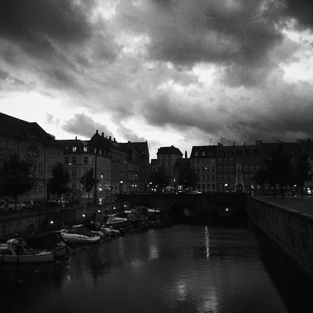 after the sunset the #storm blows in over #copenhagen #clouds #blackandwhite #drama #vscocam