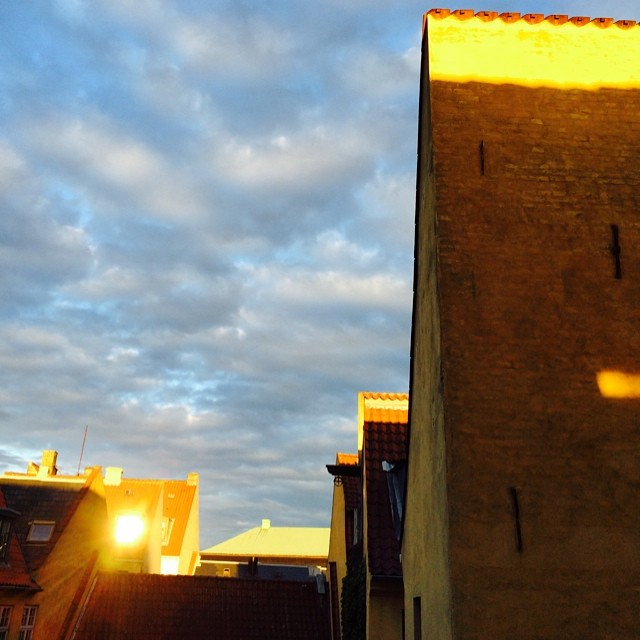 #copenhagen #golden hour - #rooftops #christiansborg #sunset #midsummer