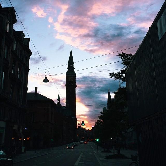 #rådhuset #copenhagen #sunset #silhouette #vscocam