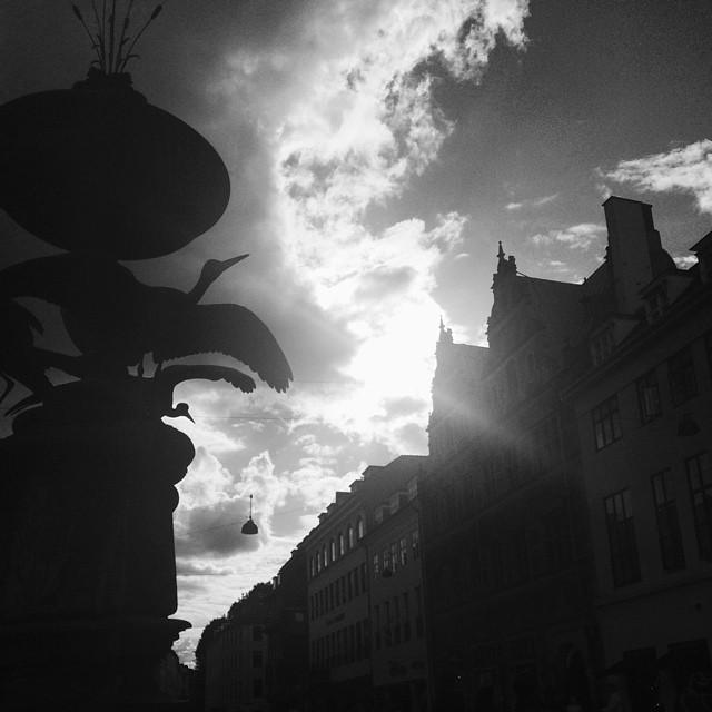 #fountain #copenhagen #strøget #blackandwhite #vscocam