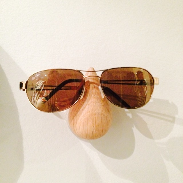 Decided that these #normanncopenhagen wall hooks are perfect for #sunglasses - #iseefaces #pareidolia