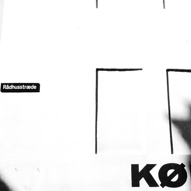 #kø #typography #walls #copenhagen #blackandwhite #abstract