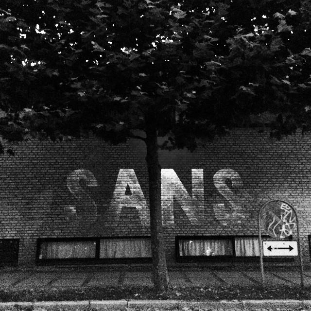 Yep no #serif here - #sans #typography #aarhus #denmark