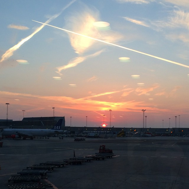 #sunrise over #kastrup #cph #copenhagen - off to #London for the day - #travel #airports