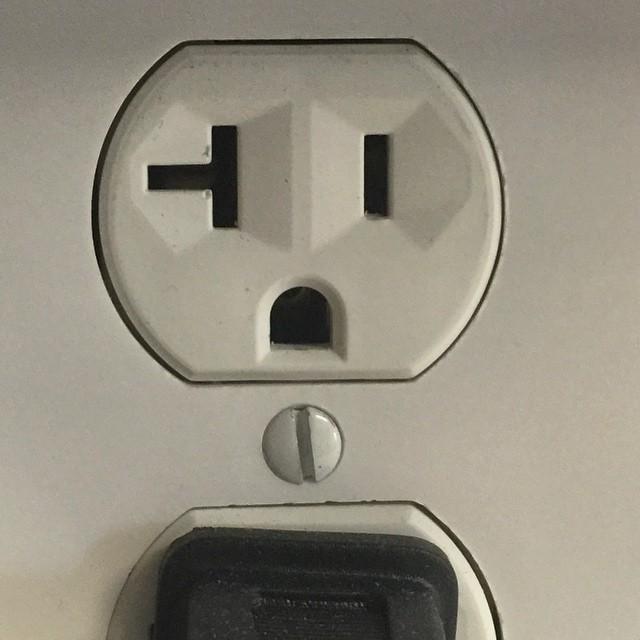 us plug sockets really aren't happy - #pareidolia #iseefaces