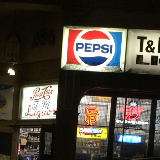 love the old #type over the door - past days of #pepsi - #sign #typography #lettering
