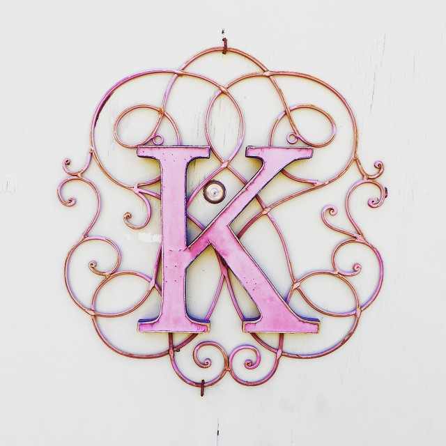 a #pink #k #typography #signage #sign