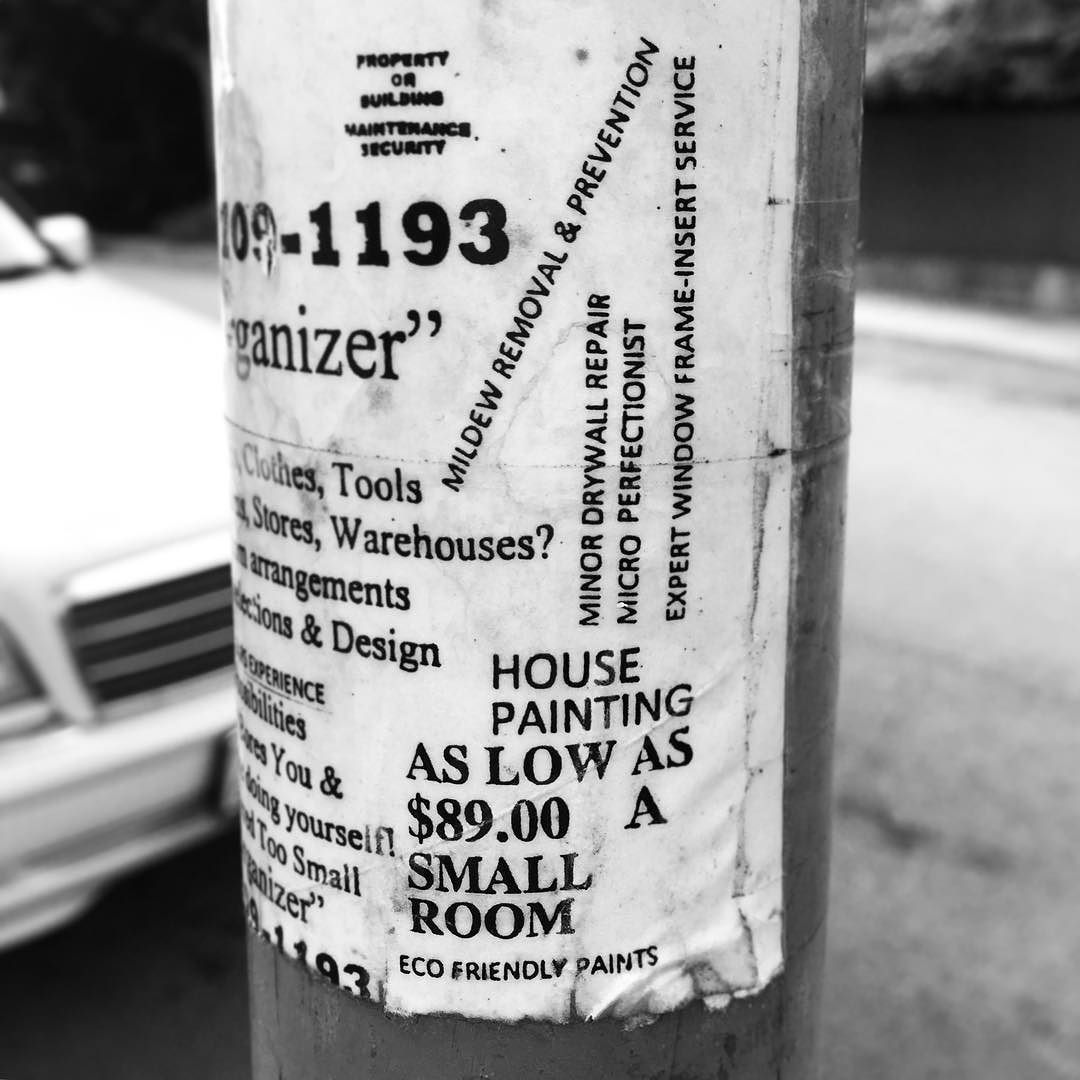 crazy #typography on this telephone post ad - #fanzine #graphicdesign #cutuptypeday