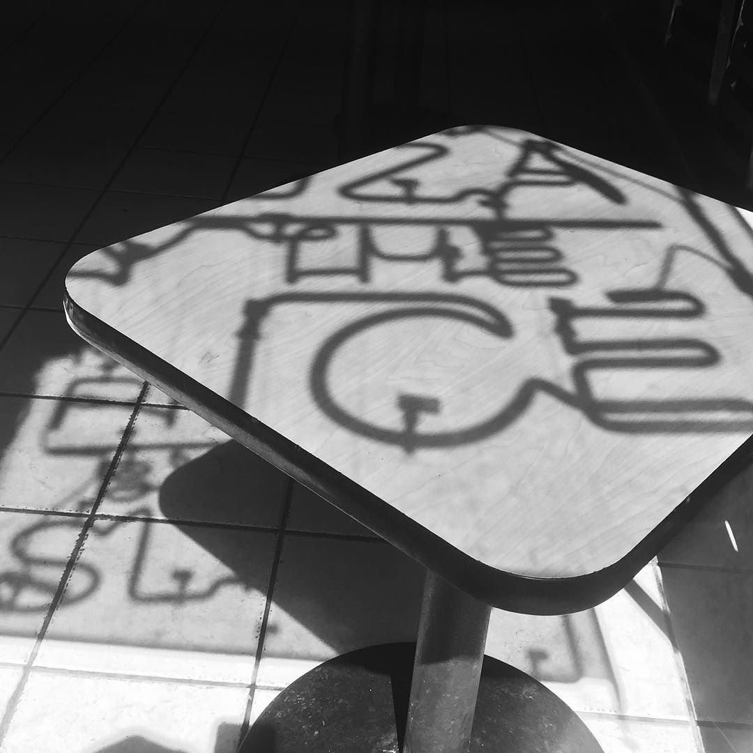 Dark #neon #shadow #typography #sanfrancisco