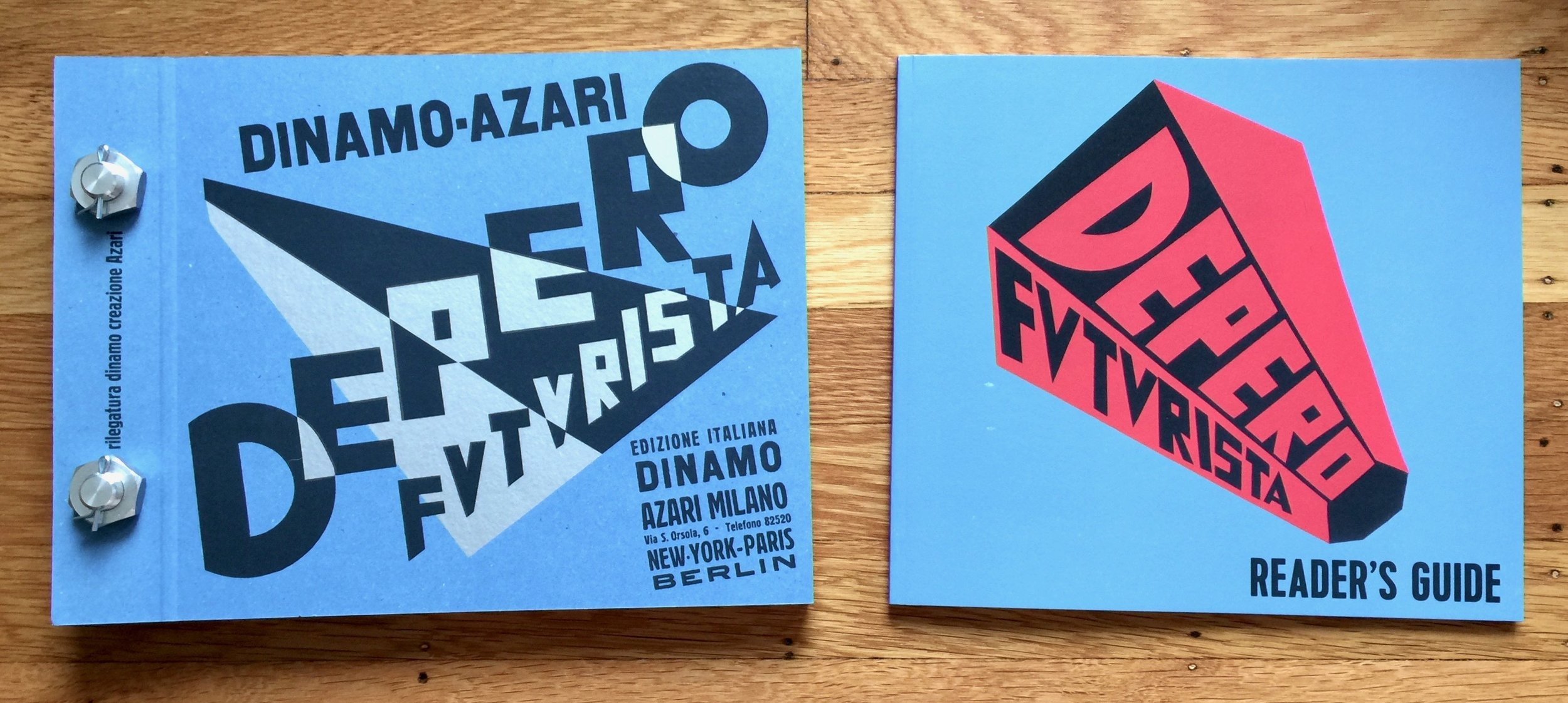 Depero Bolted Book facsimile and the Reader's Guide by Designers and Books