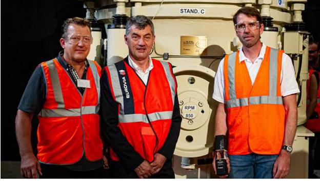 De gauche à droite, Vincent Follet, Didier Thevenard et Éric Guelton