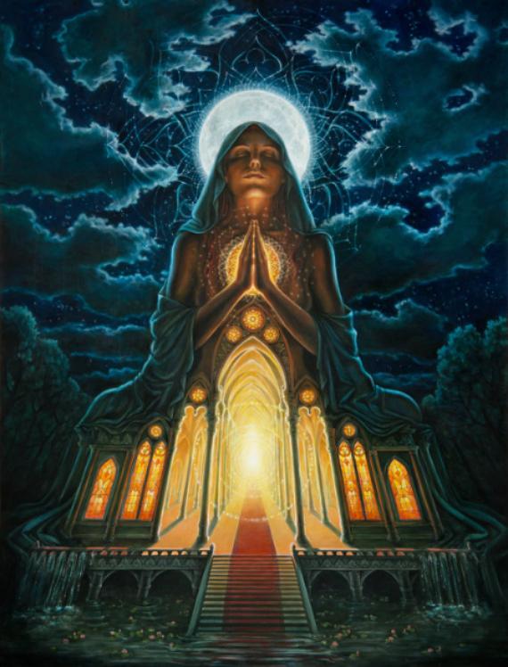 """My Body, My Temple"" by  Autumn Skye Art"