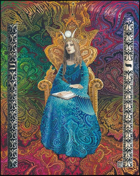 THE HIGH PRIESTESS BY    EMILY BALIVET