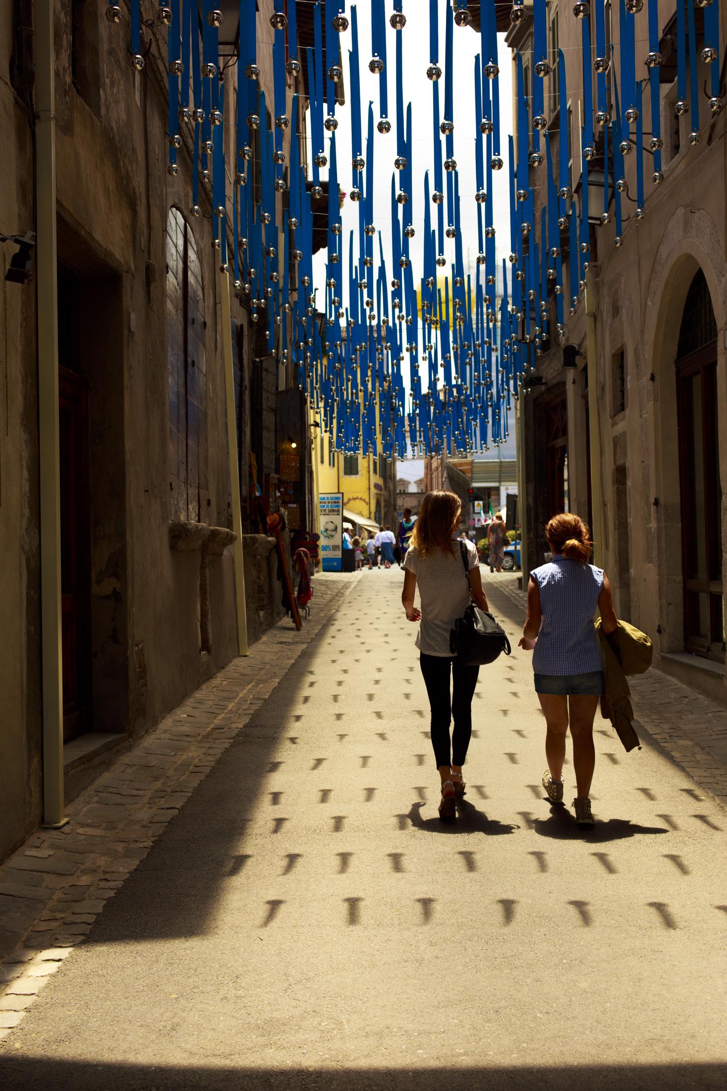 Spoleto Street with Bells