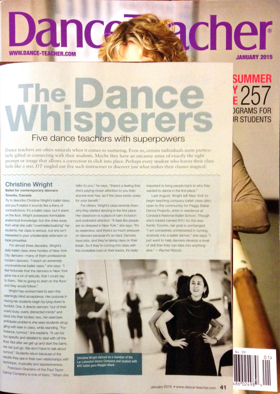 Dance Teacher Magazine, January 2015