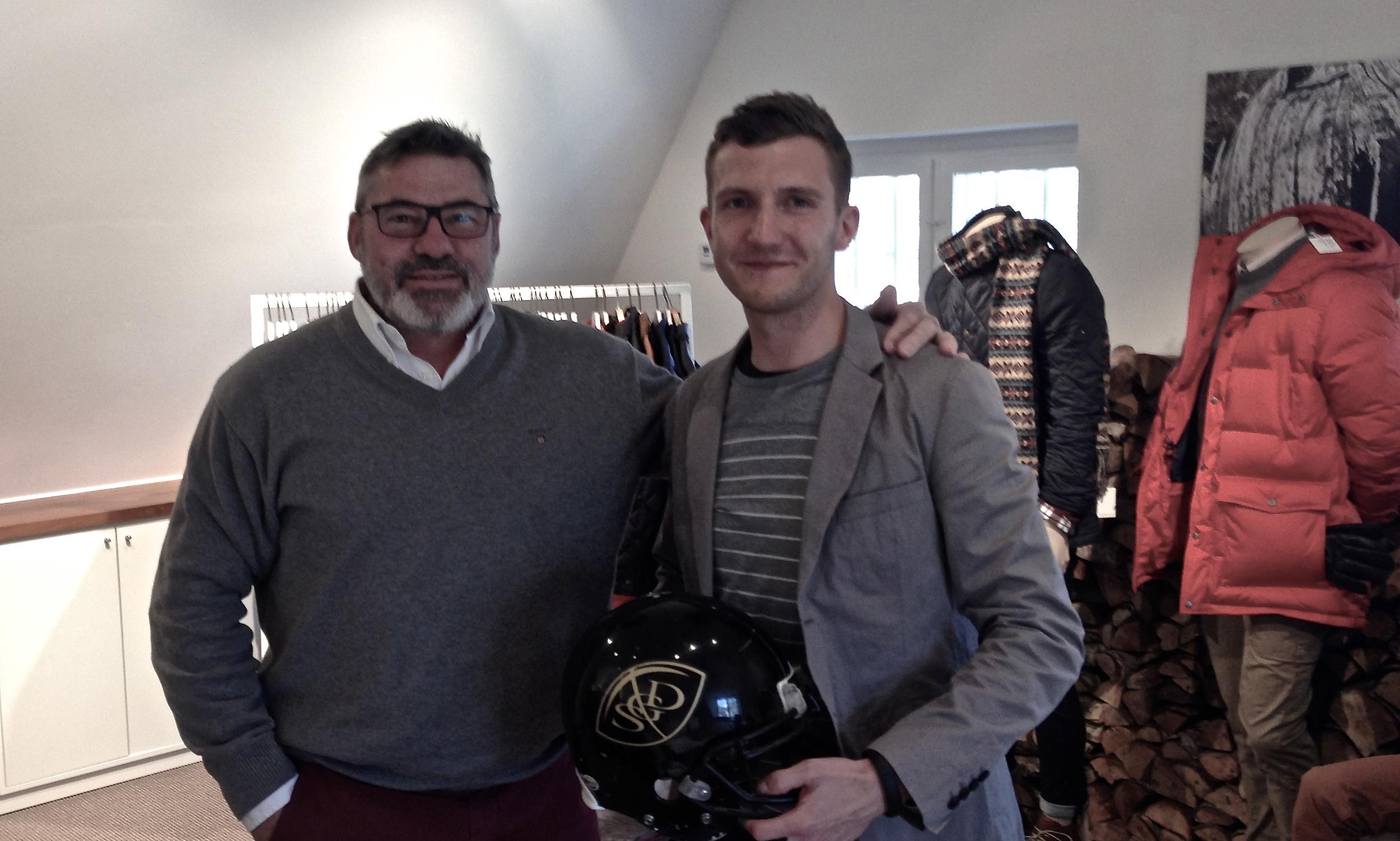 GANT Direktør Jens Schirmer og Sponsoransvarlig for Gold Diggers Kristian Christensen