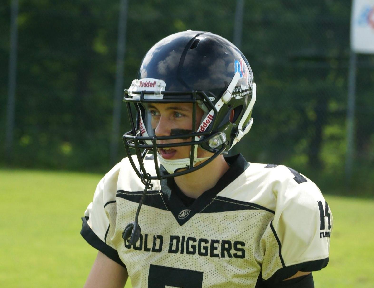 U16 spiller Emil Bøgh Borggreen. - Photo by Kenneth Ulrich