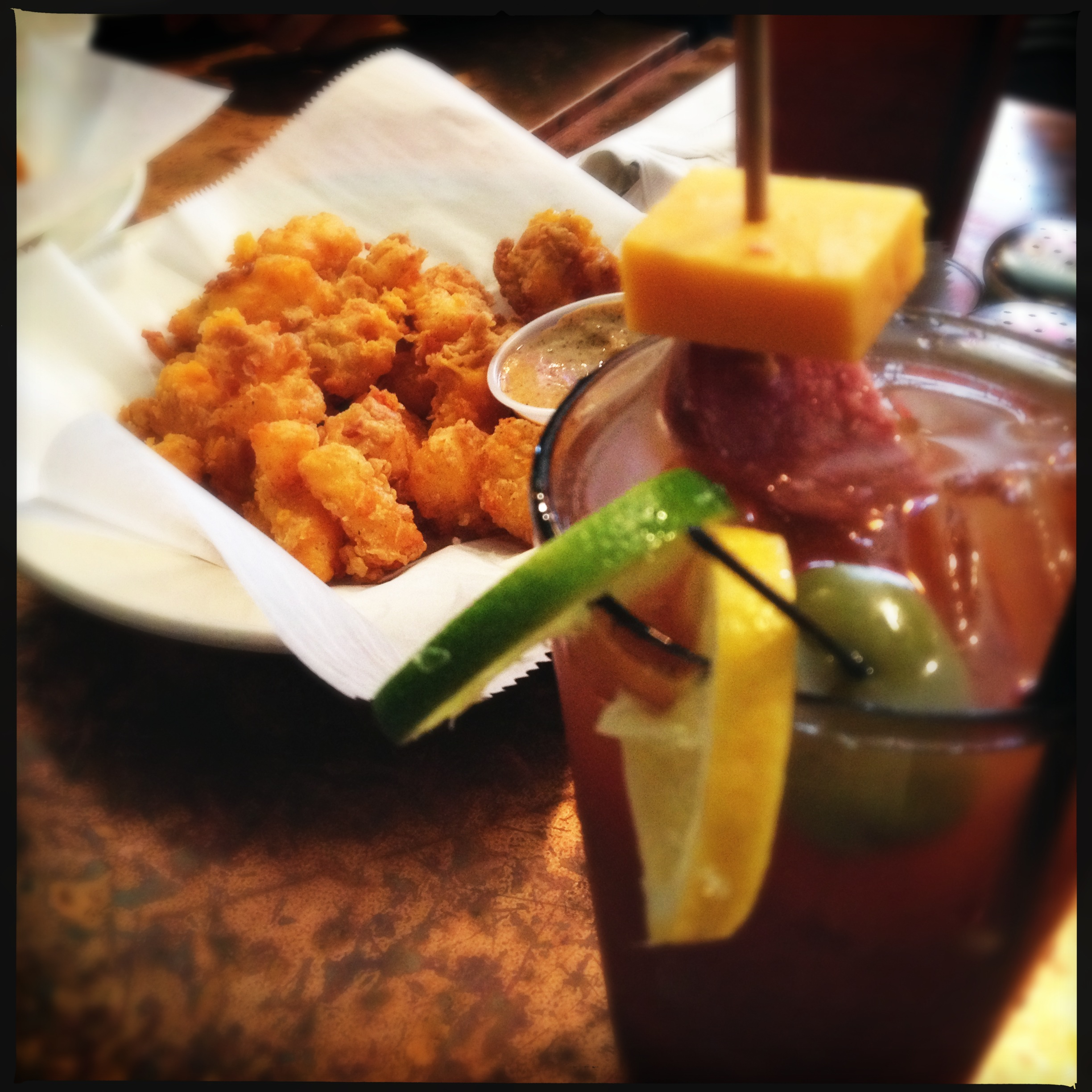 Fountain Bloody, and curds