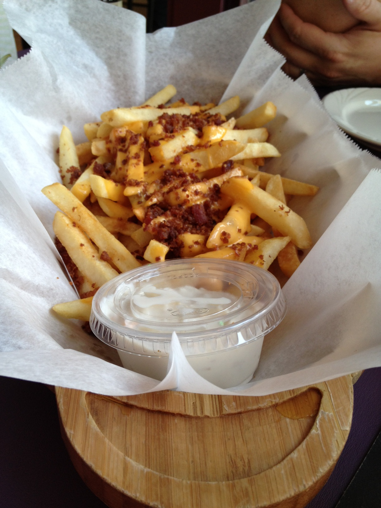 Seriously, like a canoe of fries. (photo credit: Jenni Dye)