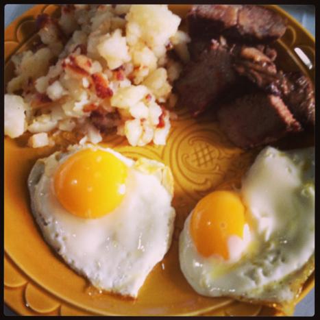 Breakfast, the next day.  Photo credit: Jenni Dye