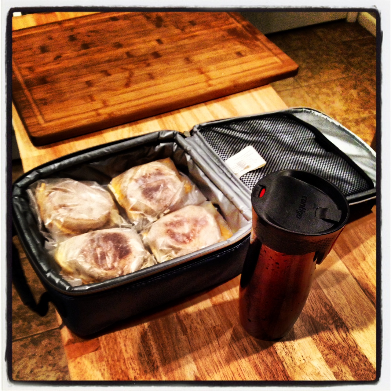 Ben's egg sandwiches. Props to this stuff.  photo credit: Ben Schicker
