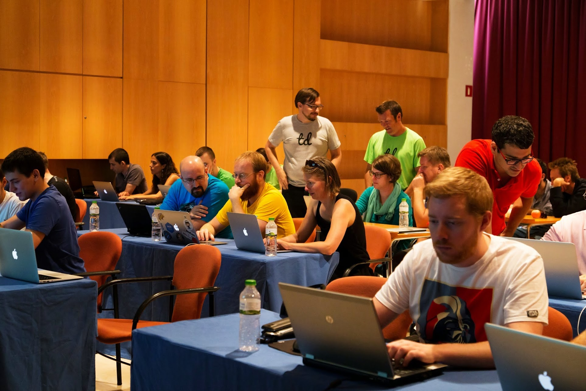 """"""" The JavaScript testing workshop that    @ toddkaufman   &    @  TheOtherZach    are leading is packed and looks awesome!"""""""