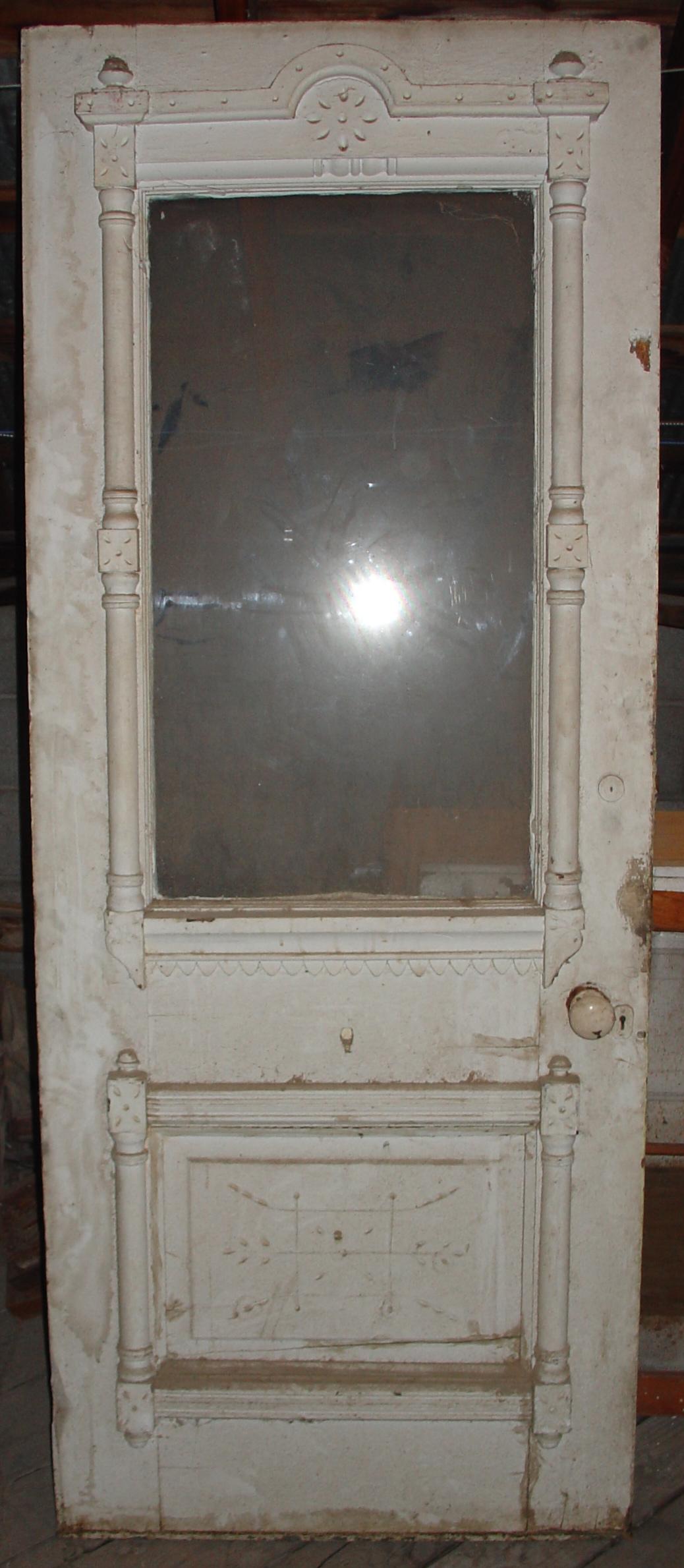 The original Victorian door.