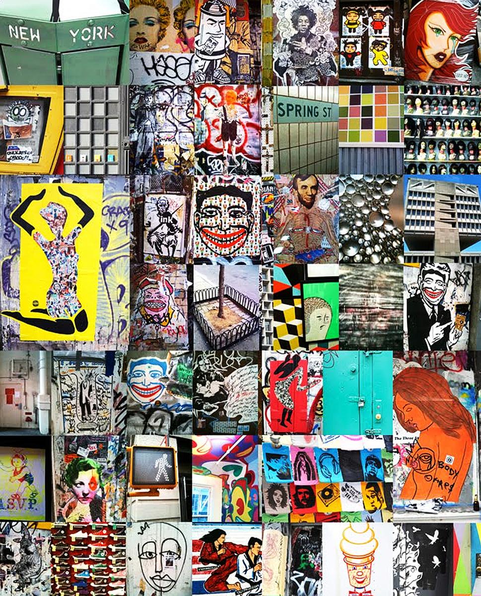 Photos of street art around New York City ( E Ronshaugen )