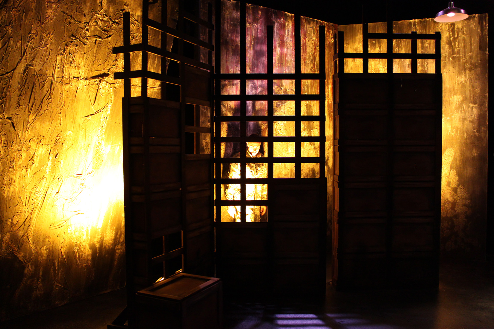 Set Design by Maya Linke, Lighting Design by Anthony Powers, Costume   Design by Ben Randle, Sound Design by Colin Trevor, Photography by   Anthony Powers.    Adrian Anchondo, Ryan Hough.