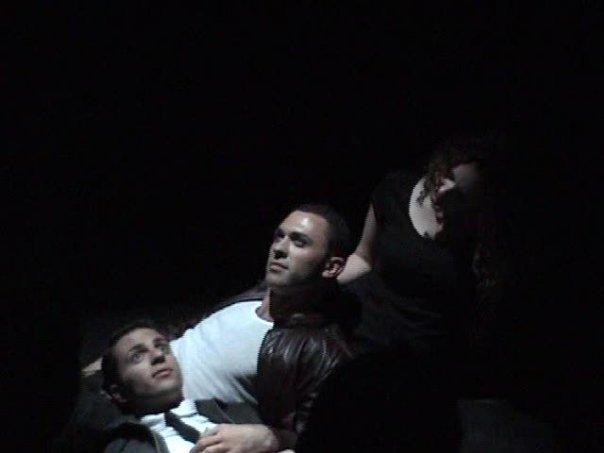Bobby Bryce (Julian), Ben Randle (Christian), Samantha Cooper (Kate).    Designed by Ben Randle, Lighting Design by Nick Brandon.
