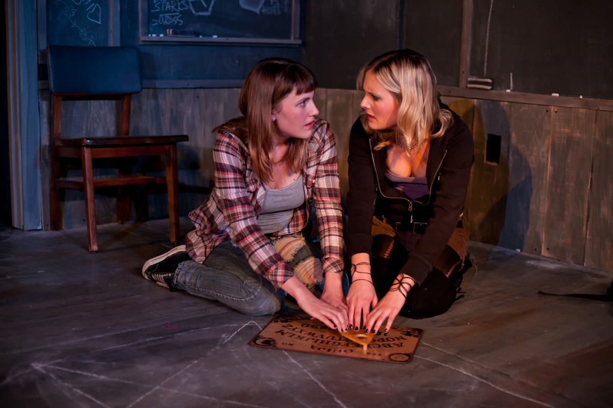 Caitlyn Tella, Luisa Frasconi.    Scenic Design by Anne Kendall, Costume Design by Ashley Rogers,  Lighting Design by Jacqueline Steagers, Sound and Projection Design by  Colin Trevor.   Photography by Cheshire Isaacs.