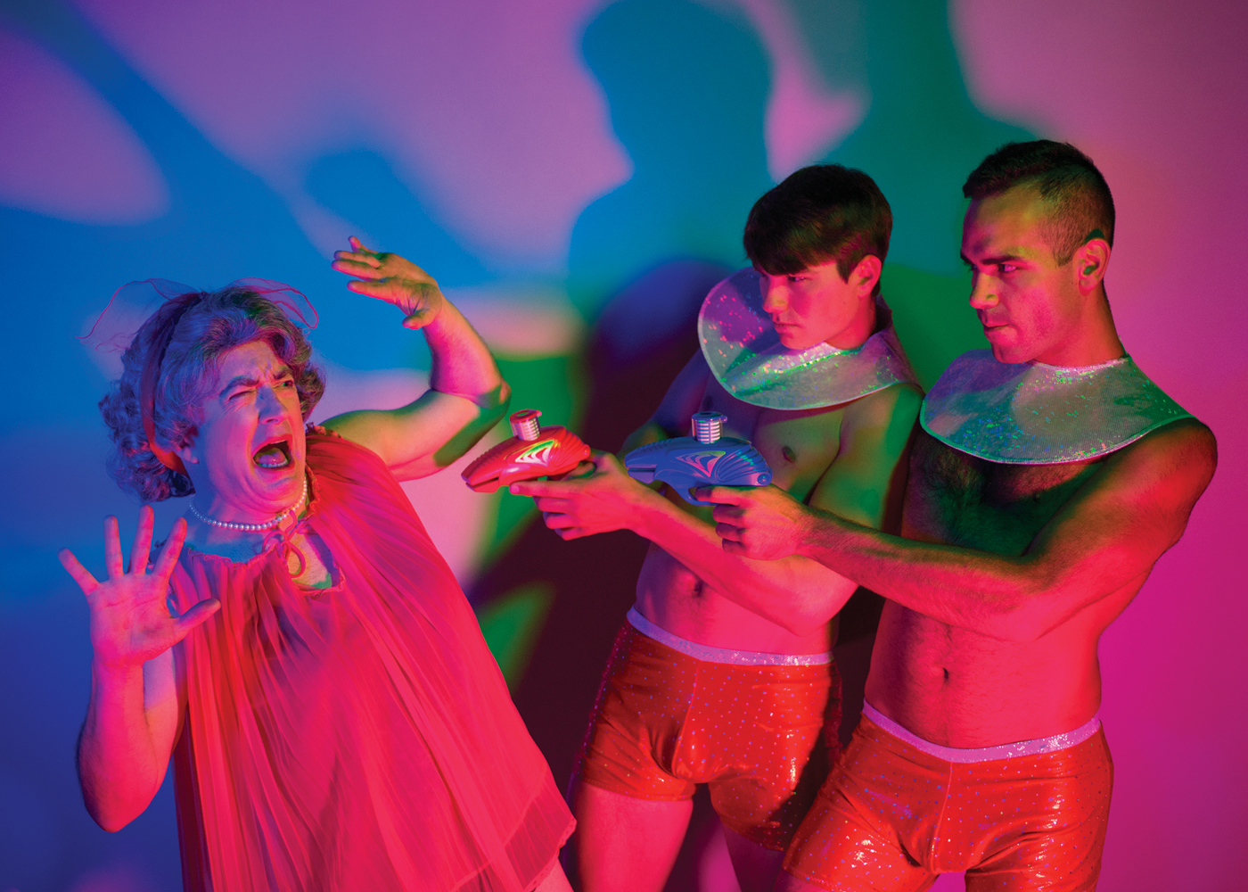 Publicity Image, Devil Boys From Beyond, 2014 - New Conservatory Theatre Center   Photography by Lois Tema. Art Direction by Ben Randle.