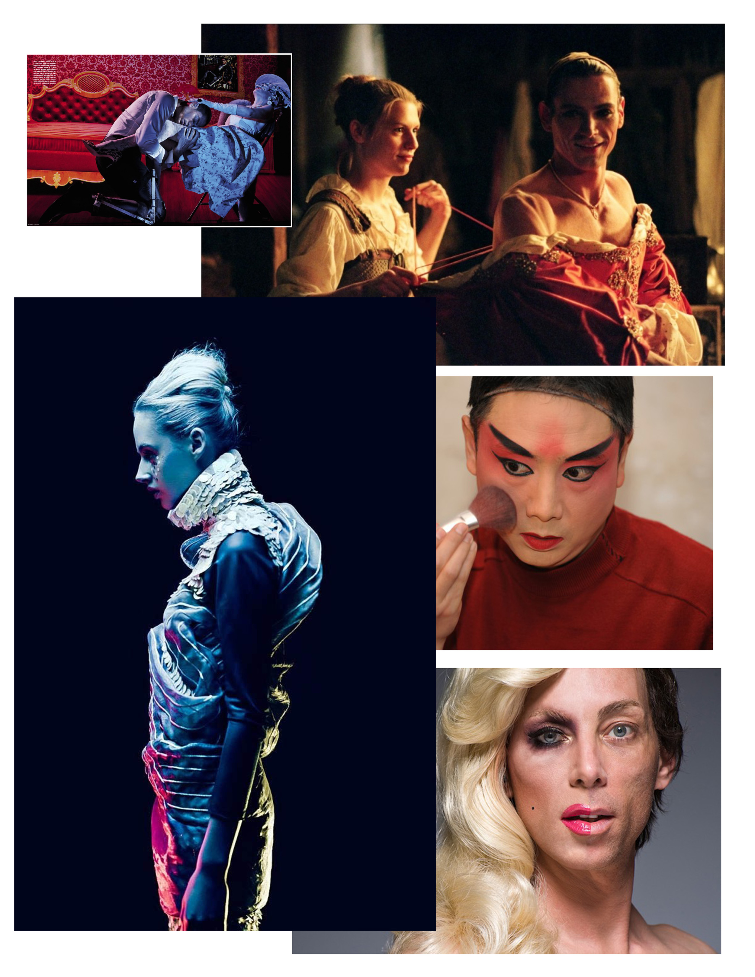 Art Direction Research, Compleat Female Stage Beauty, 2015.  New Conservatory Theatre Center