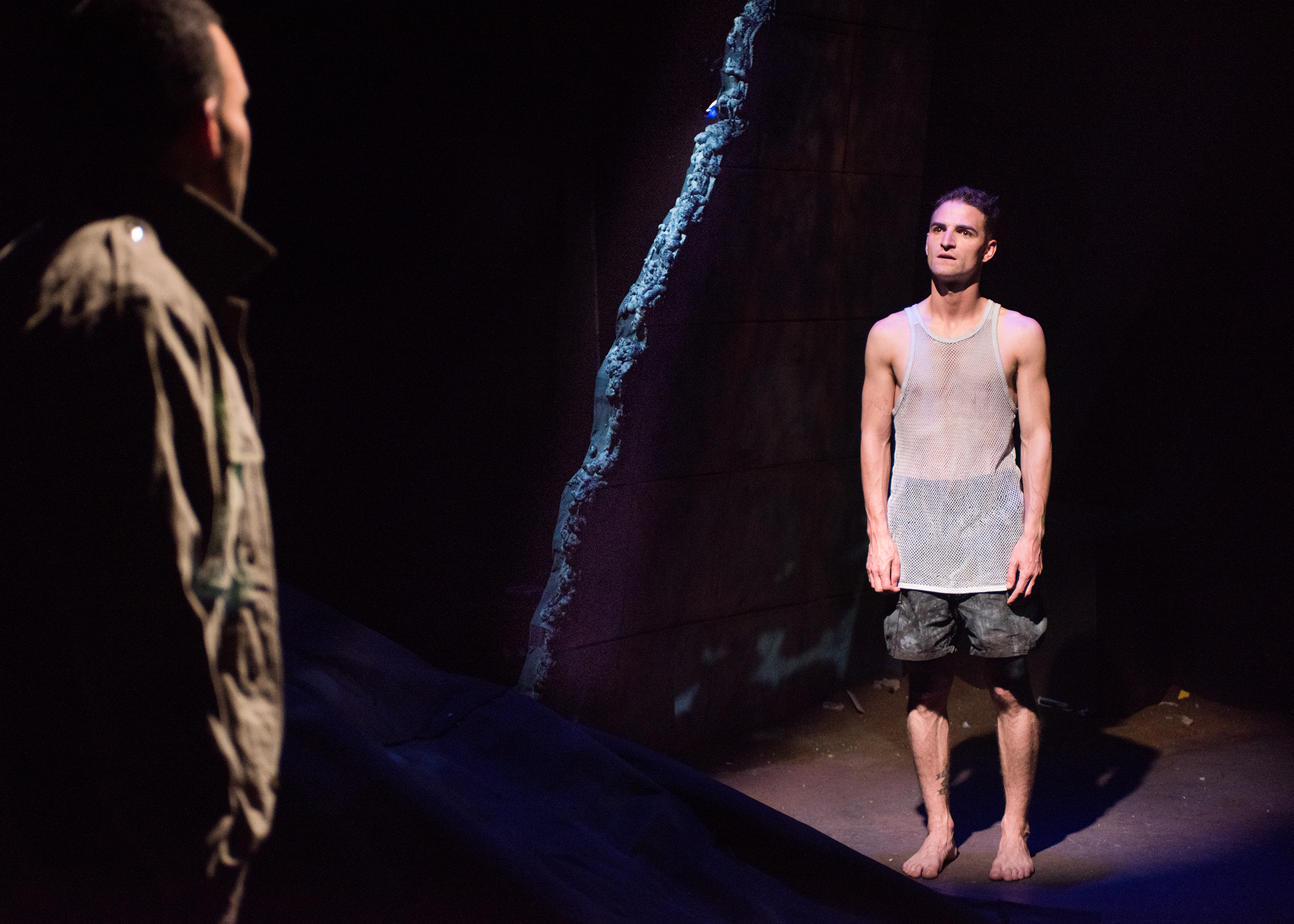 Ed Berkeley, JD Scalzo.  Scenic Design by Devin Kasper, Costume Design by Miriam Lewis, Lighting Design by Christian V. Mejia, Sound Design by Theodore J.H. Hulsker, Prop Design by Adeline Smith, Stage Management by Kaitlin Rosen.  Photo by Lois Tema.