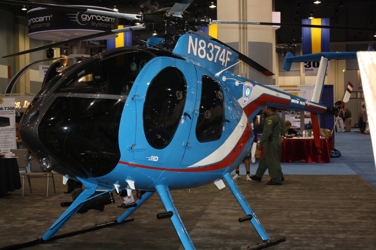 Houston Police Department MD500E helicopter. Darryl Kimball photo.