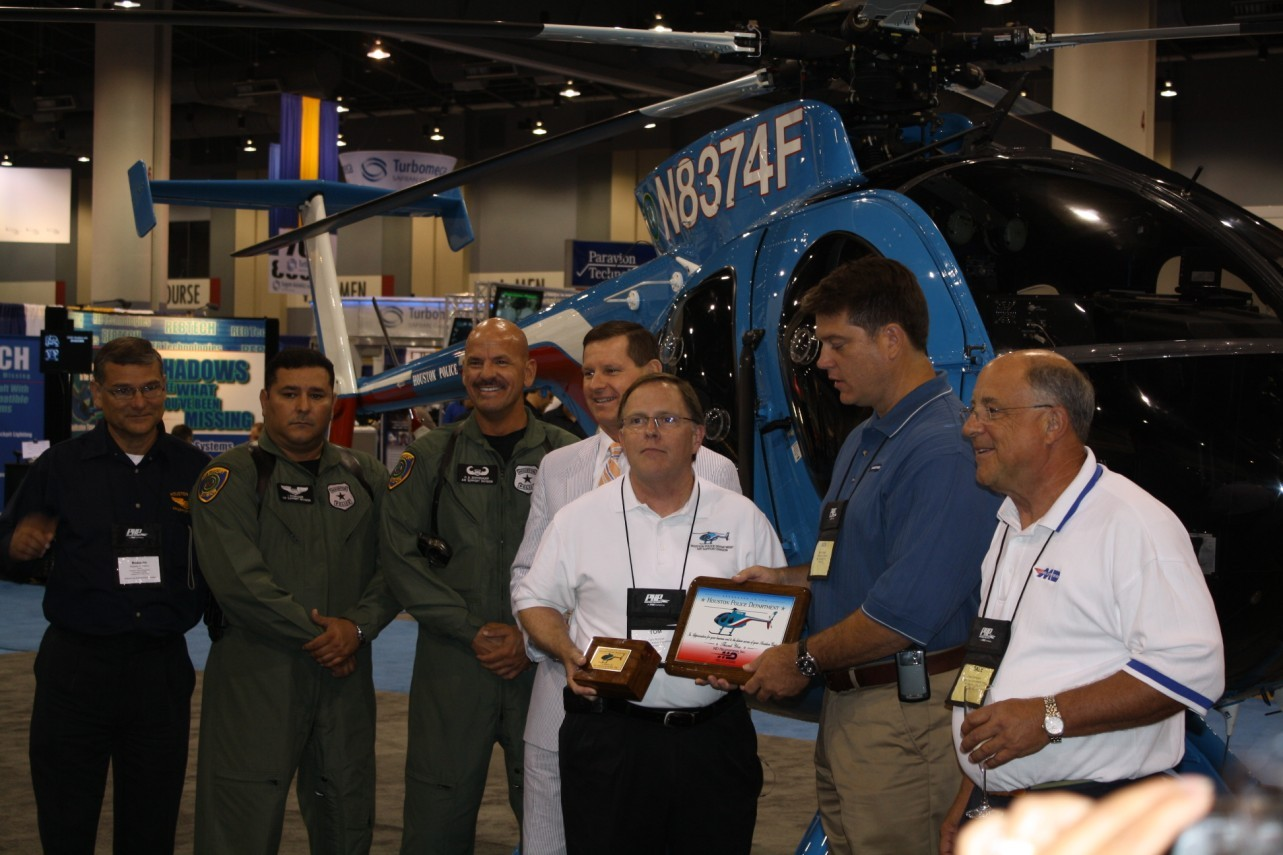 Delivery ceremony of one of the new MD500E helicopters to Houston PD. ALEA 2009 Savanna Ga. Darryl Kimball photo.