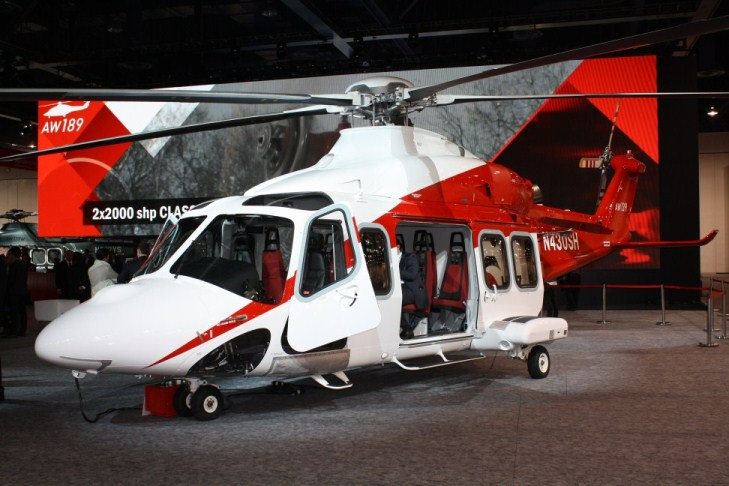 Learn to fly helicopters and one day you could be flying this AW-139. Transport helicopters like this are commonly used to move workers to off shore oil wells.