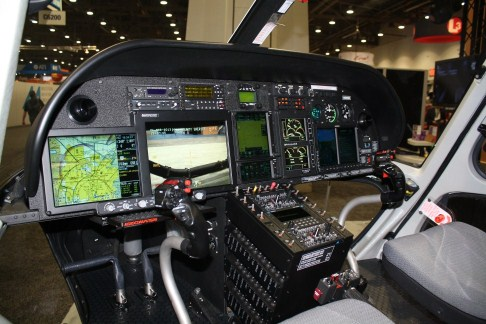Many new helicopters are available with full glass panel cockpit displays.