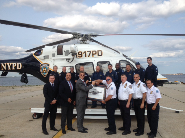 The NYPD Air Support Division receives its first of four new Bell 429 patrol helicopters which will replace the A119 Koala. The transition to the 429 twin engine helicopter should be complete by the close of 2015.