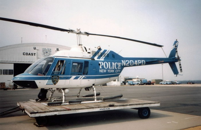 This Bell 206 Jet Ranger saw service in the NYPD Air Support Unit between early helicopters such as the Bell 47 and more modern helicopters such as the A119 Koala and the Bell 429.