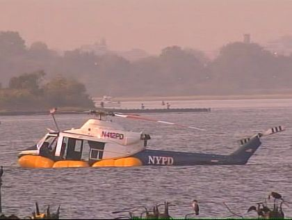 In 2010 this NYPD Bell 412 was forced to make an emergency water landing when it experienced mechanical problems.