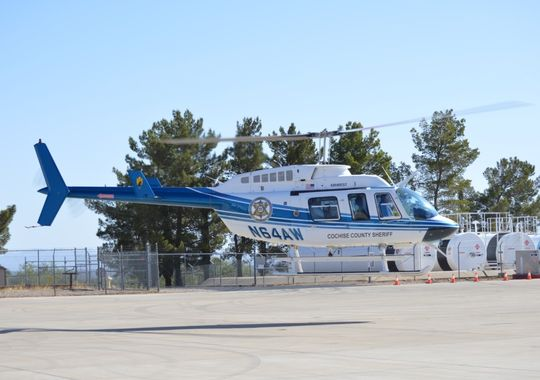 The Bell Jet Ranger helicopter pictured here was damaged in an emergency landing in September 2014 after losing its tail rotor. The helicopter that crashed New Year's Eve was the replacement helicopter.