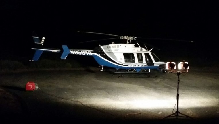 "San Diego Sheriff Bell 407 on the set of an ""Every 15 Minutes"" anti-drunk driving campaign video. May of 2015."