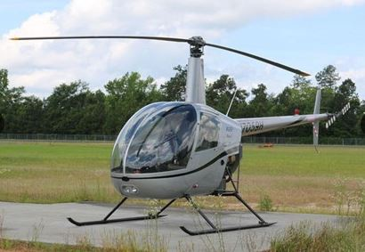 A Robinson R-22 Beta II, 2 seat piston powered helicopter - listed for $120,000 used