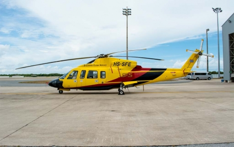 A Sikorsky S-76+ similar to this one can sell for as much as $7 million