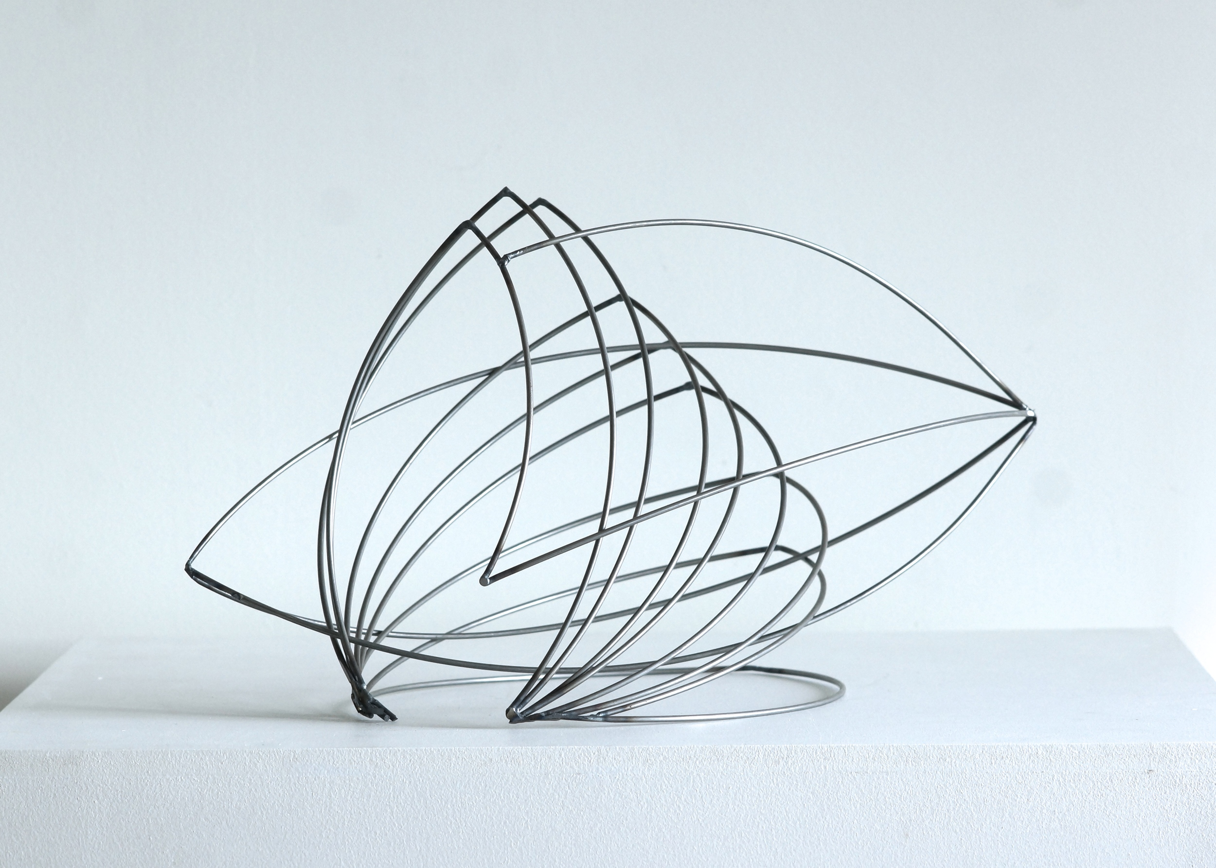 "Line Drawing 6,   2014    Steel,17"" x 10"" x 14"""