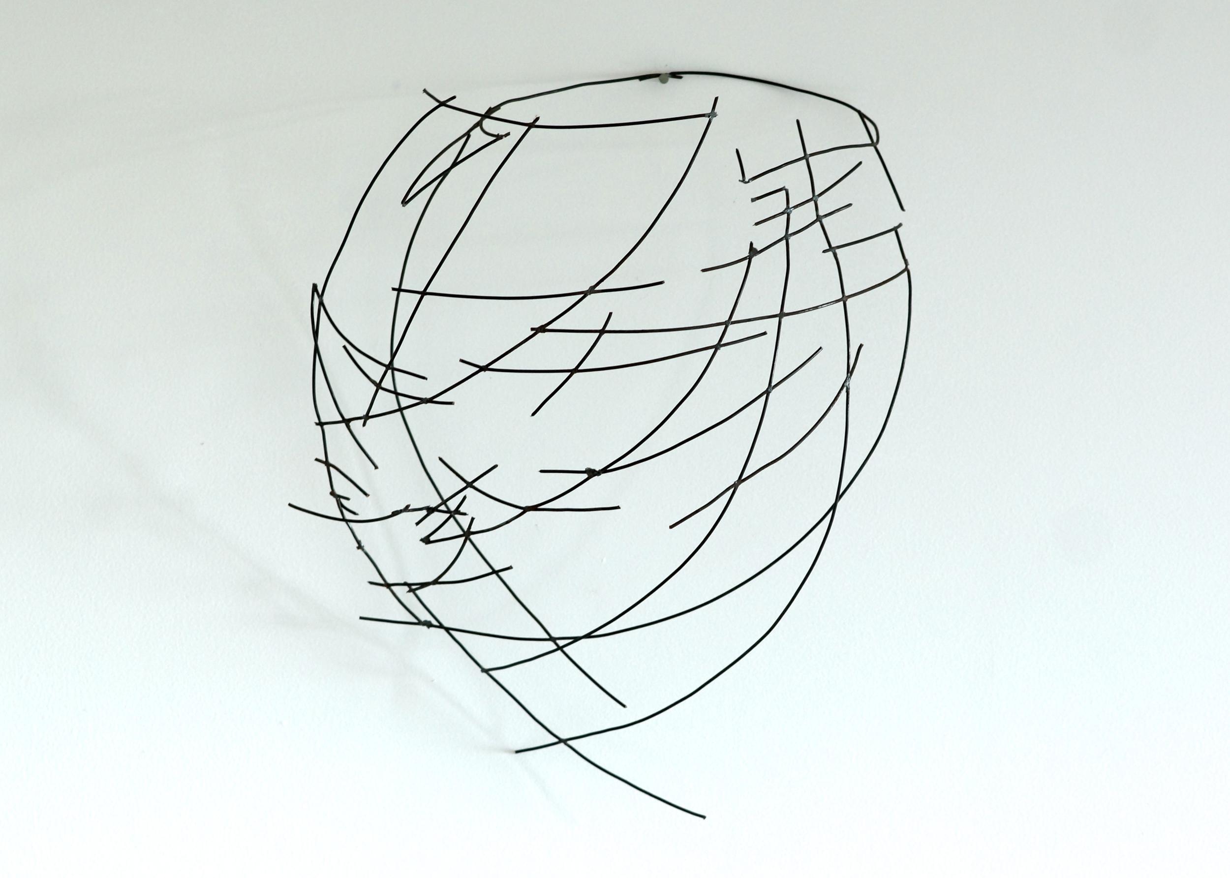 "Wall Vessel 2  , 2014  Steel,12"" x 14"" x 6""   Alyn Carlson Collection"