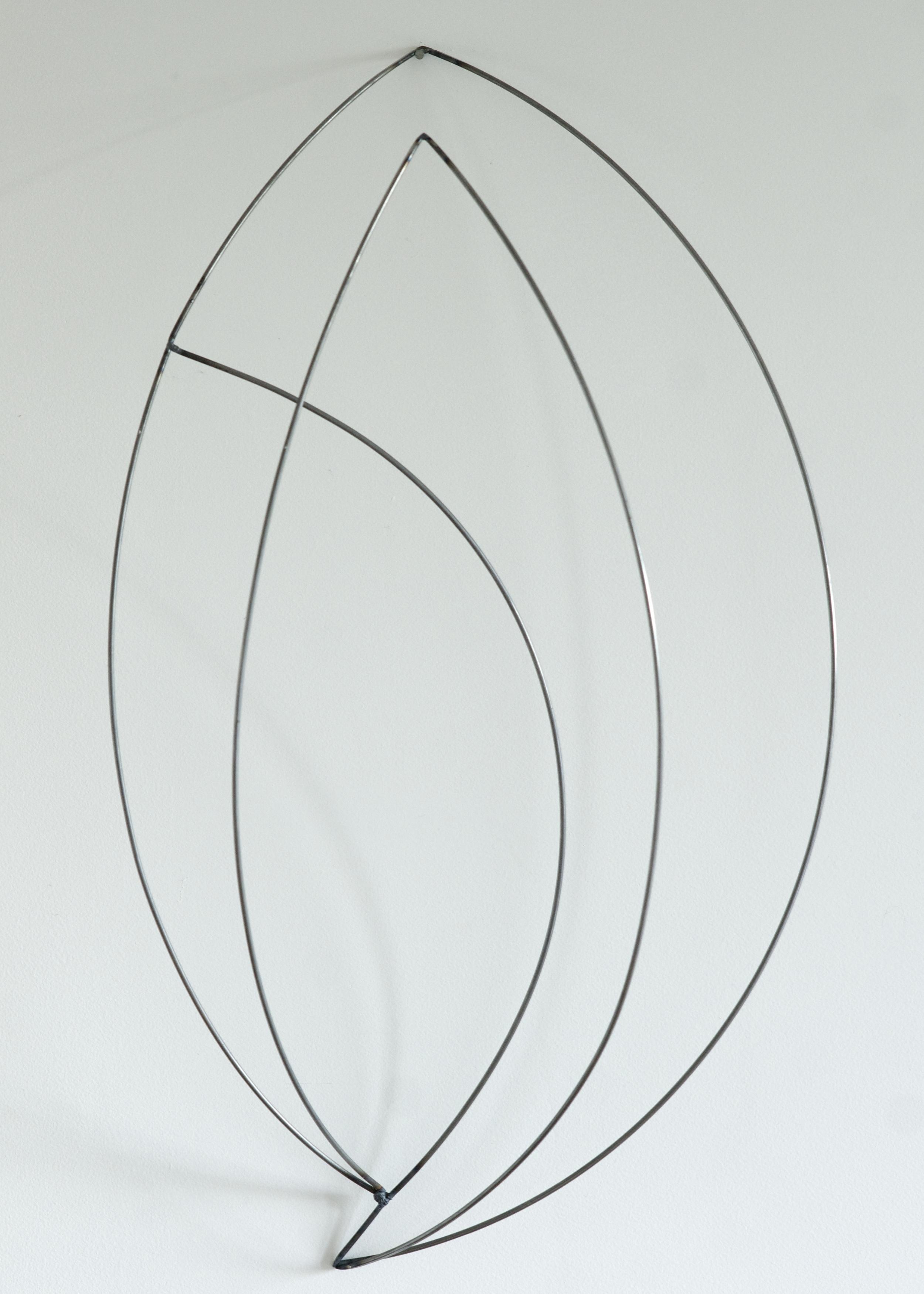 "Line Drawing 4  , 2014  Steel, 15"" x 25"" x 9.5"""