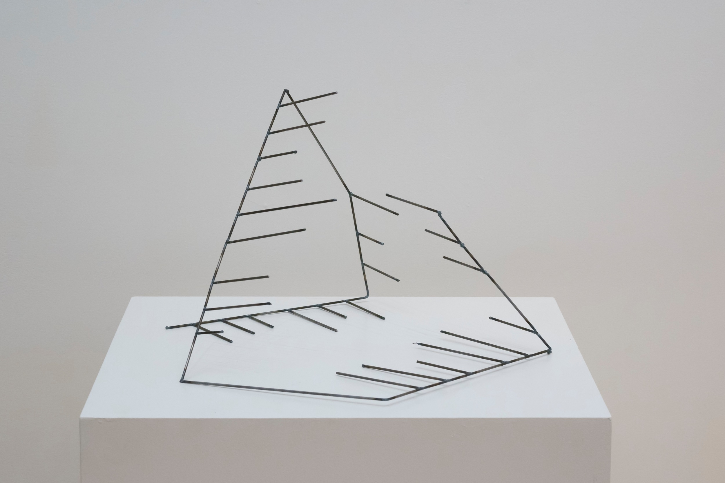 """Open Cage: Pyramid,  2015  Steel, 13"""" x 21"""" x 20"""""""