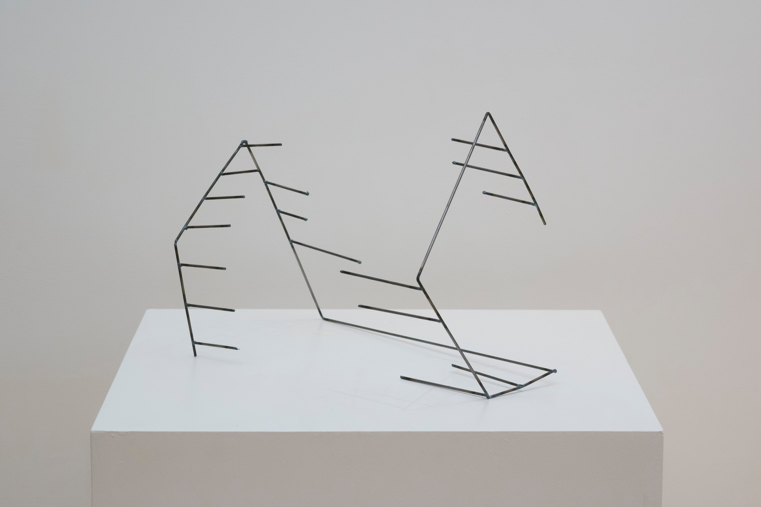 """Open Cage: Rectangle,  2015  Steel, 13"""" x 12"""" x 18"""""""